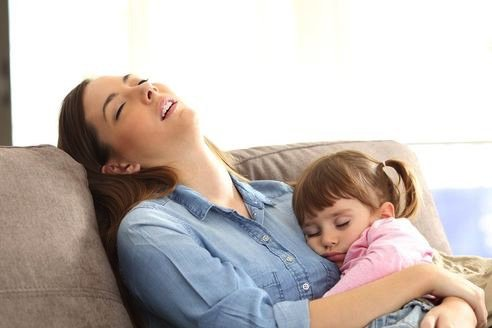 mom and toddler daughter asleep - JoAnna Inks Sleep Solutions