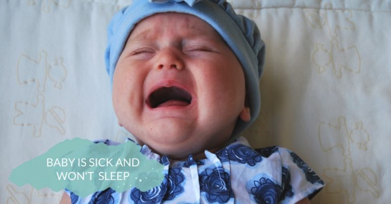 sick baby graphic - JoAnna Inks Sleep Solutions