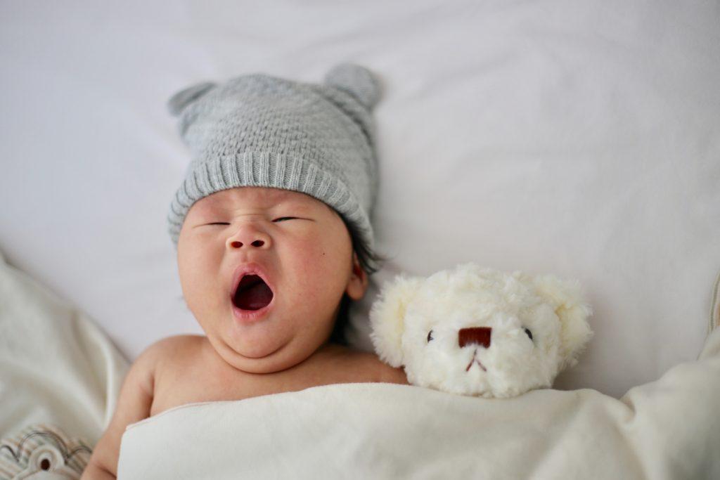 yawning baby boy - Sleep Solutions Unlimited