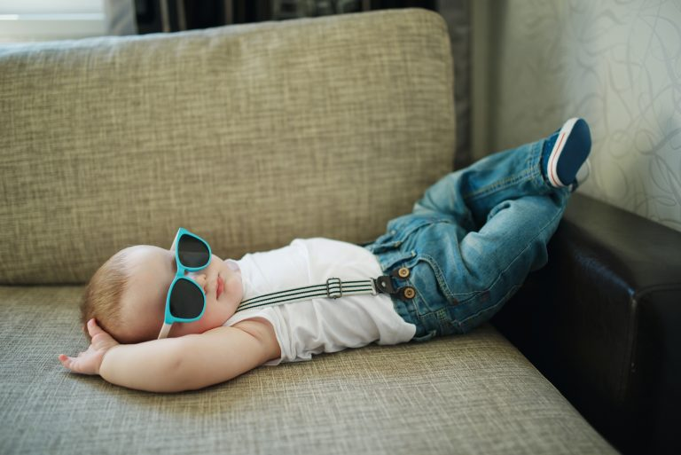 little boy with sunglasses - JoAnna Inks Sleep Solutions