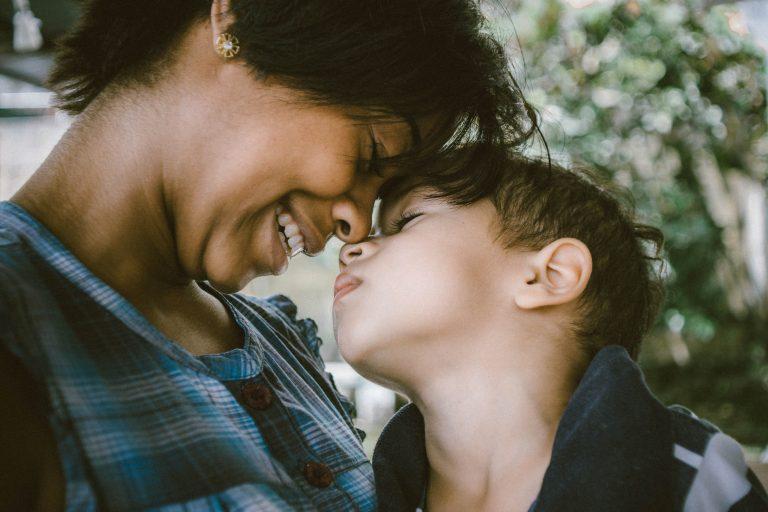 mom with son - JoAnna Inks Sleep Solutions