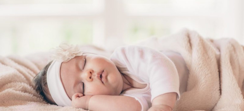 baby girl sleeping - JoAnna Inks Sleep Solutions